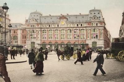 Gare Saint Lazare, 1904 by French Photographer