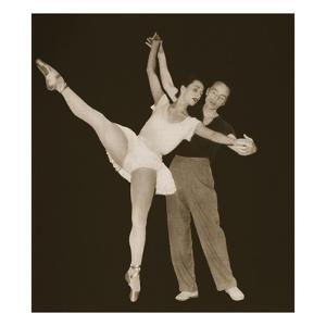 George Balanchine with Tamara Toumanova, from 'Grand Ballet De Monte-Carlo', 1949 (Photogravure) by French Photographer