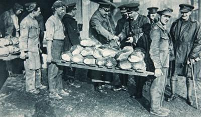 Inspecting Bread at a Bakery in France, Illustration from 'The Illustrated War News', January 1917 by French Photographer