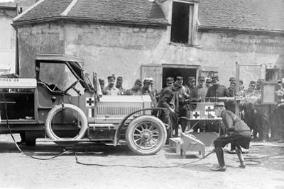 Mobile X-Ray Unit in France, C.1914-18 by French Photographer