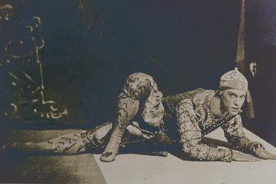 Nijinsky Performing the Danse Siamoise from 'Les Orientales' by Foquine