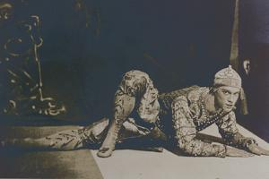 Nijinsky Performing the Danse Siamoise from 'Les Orientales' by Foquine by French Photographer