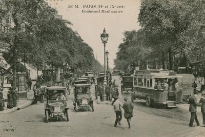 Paris, Boulevard Montmatre. Postcard Sent in 1913