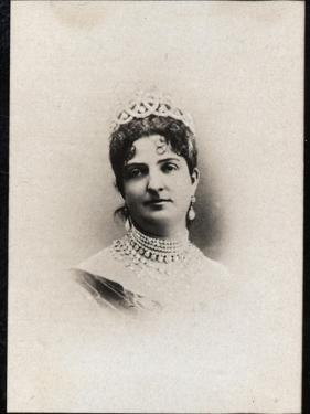Portrait of Margherita of Savoy (1851-1926), Queen of Italy by French Photographer