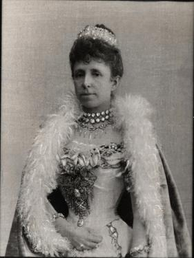 Portrait of Maria Christina of Austria (1858-1929), Regent Queen of Spain by French Photographer