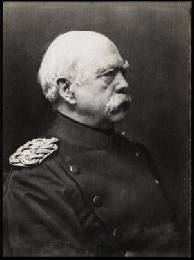Portrait of Otto von Bismarck (1815-1898), German Prussian statesman by French Photographer