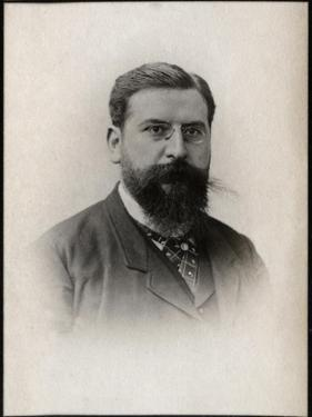 Portrait of Raoul Pugno (1852-1914), French composer, teacher, organist, and pianist by French Photographer