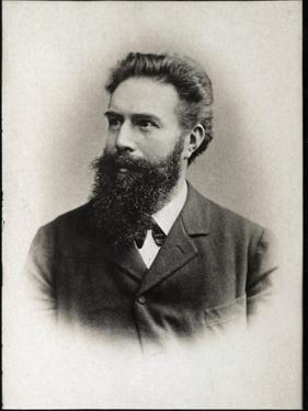 Portrait of Wilhelm Conrad Roentgen or Rontgen (1845-1923), German physicist by French Photographer