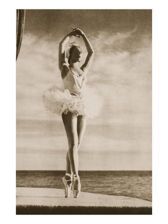 Rosella Hightower in Swan Lake, from 'Grand Ballet De Monte-Carlo', 1949 (Photogravure)