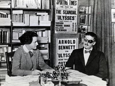 Sylvia Beach and James Joyce, c.1922