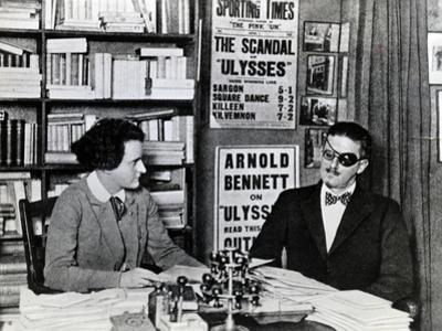 Sylvia Beach and James Joyce, c.1922 by French Photographer