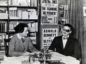 Sylvia Beach and James Joyce, c.1922 by French Photographer