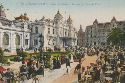 Terrace of the Cafe de Paris, Place Du Casino, Monte Carlo. Postcard Sent in 1913