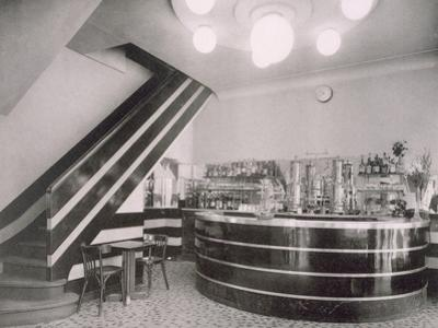 The Bar Torcy, Designed by Deschanel and J. Dussolier, 1920S (B/W Photo) by French Photographer
