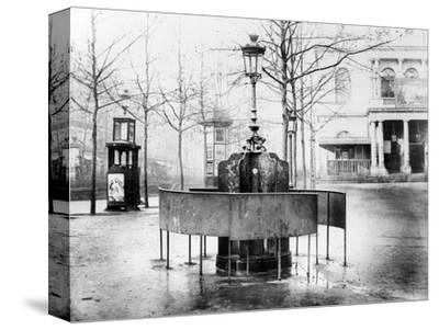 Vespasienne (Public Urinal) on the Grands Boulevards, Paris, C.1900 (B/W Photo) by French Photographer
