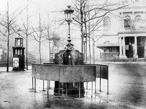Vespasienne (Public Urinal) on the Grands Boulevards, Paris, C.1900 (B/W Photo) by French Photographer