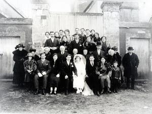 Wedding Photograph in the Sarthe Region of France, C.1920 (Photo) by French Photographer