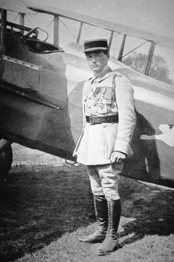 WWI French Air Ace Sous-Lieutenant Rene Fonck, Awarded Legion d'Honneur after Six Victories, 8th… by French Photographer