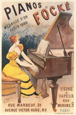 French Piano Poster
