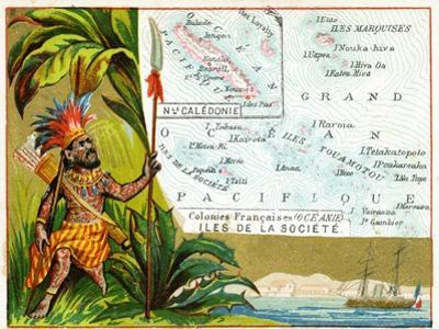 French Possessions in Oceania, C.1890