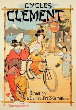 Poster Advertising 'Cycles Clement', Pre Saint-Gervais (Colour Litho) by French