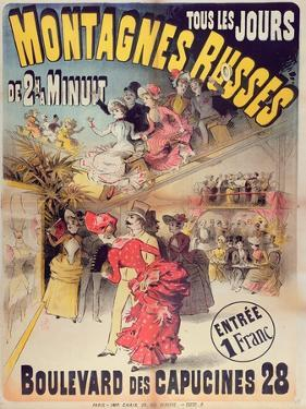 Poster Advertising the 'Montagnes Russes' Roller Coaster in the Boulevard Des Capucines, Paris 1888 by French