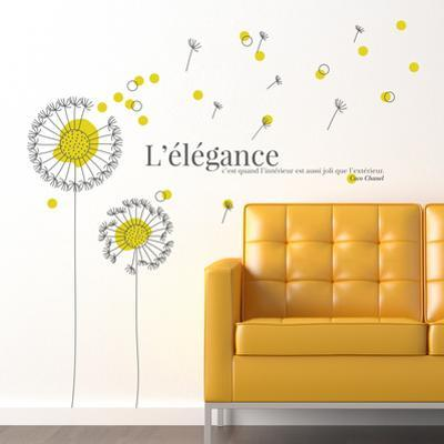 French Quote Yellow Dandelion