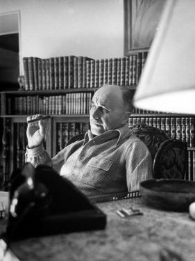 French Rep. to Schuman Plan Jean Monnet, Relaxing at Home