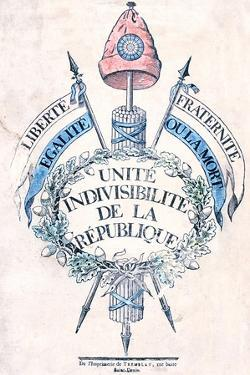 French Revolution 1789: Allegorical Emblem of the Republic