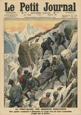 A Moving Descent Down the Mont Blanc by French School