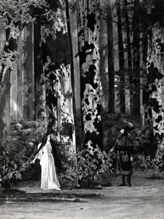 Act I, Scene 1 of 'Pelleas et Melisande' by Debussy, from a Photograph of the First Production in… by French School
