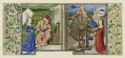Miniature from Boethius, Consolation de philosophie, c.1460-70 by French School