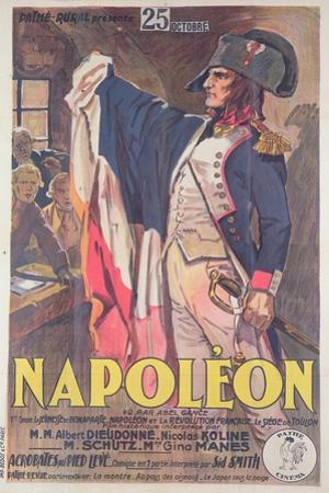 Poster Advertising the Film, 'Napoleon', Written by Abel Gance by French School
