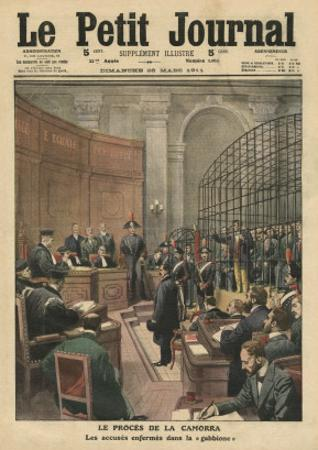 Trial of the Camorra, Illustration from 'Le Petit Journal', Supplement Illustre, 26th March 1911 by French School