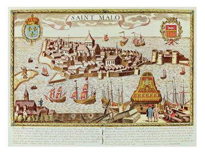 View of the Port and Fortified City of Saint Malo, Located on the Coast of Brittany by French School