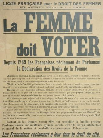 'Women Must Vote', Poster Encouraging Women to Fight for Voting Rights, 1914