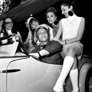 "French Singer Jacques Dutronc for Launching of ""Siata Spring"" Car, 25 May 1967"