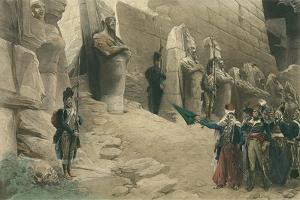 French Soldiers at Egyptian Ruins