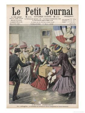 French Suffragettes Disrupt Election by Attacking Ballot Box