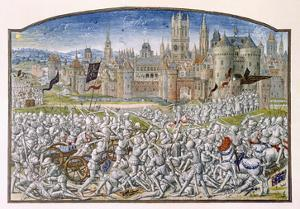 T.2 Fol.287 Victory of the Inhabitants of Ghent Led by Philipp Van Artevelde before Bruges in 1381 by French