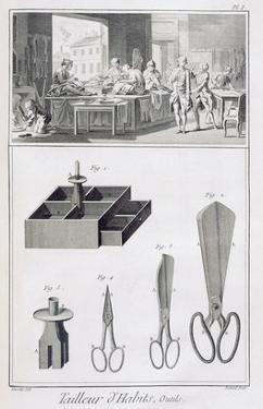 Tailor, from the 'Encyclopedie Des Sciences Et Metiers' by Denis Diderot (1713-84) Published C.1770 by French