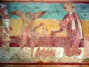Temptation of Christ in the Desert by the Devil, 12th Century (Fresco) by French