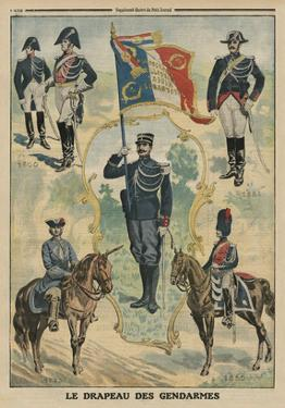 The Flag of the Gendarmes, Front Cover Illustration from 'Le Petit Journal', Supplement Illustre by French