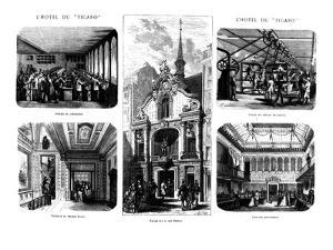 The Offices of the 'Figaro', 26 Rue Drouot, Paris, 1874 (Engraving) by French