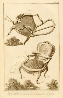 The Process of Upholstering a Chair, from the 'Encyclopedie Des Sciences Et Metiers' by French