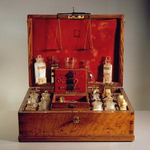 Travelling Pharmacy (Beech, Glass and Metal) by French
