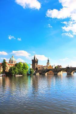 Charles Bridge in Prague, Czech Republic by frenta
