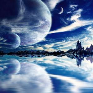 Collage - Landscape in Fantasy Planet by frenta