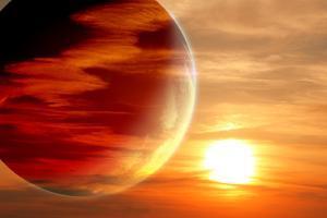 Fantastic Sunset in Alien Planet by frenta
