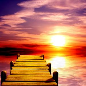 Fantasy Beautiful Sunset And Wooden Pier by frenta